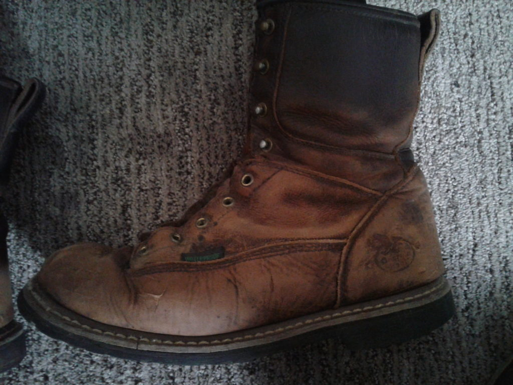 Boot after drying